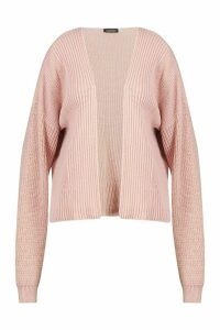 Womens Plus Cropped Cardigan - pink - 20, Pink
