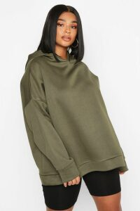 Womens Plus Oversized Supersoft Hoody - Green - 18, Green