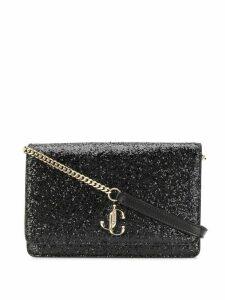 Jimmy Choo Palace glitter crossbody bag - Black