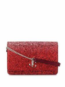 Jimmy Choo glitter two-tone Palace crossbody bag - Red