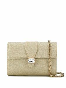 Casadei jewel shimmer clutch bag - GOLD