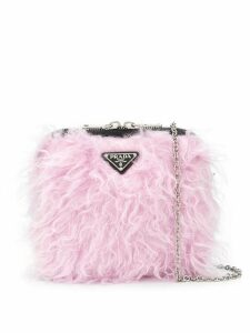 Prada fluffy cross body bag - Black