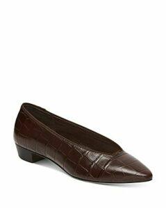 Loeffler Randall Women's Simone Croc-Embossed Flats