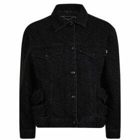 McQ Alexander McQueen Leopard Print Denim Jacket