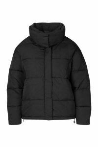 Womens Plus Funnel Neck Puffer Jacket - black - 18, Black