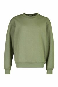 Basic Oversized Sweatshirt - green - M, Green
