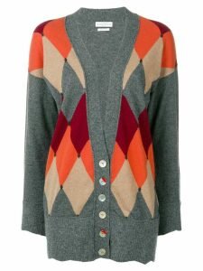 Ballantyne argyle cardigan - Grey