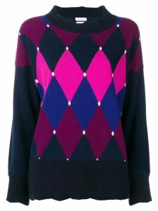 Ballantyne argyle jumper - Blue