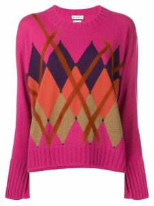 Ballantyne argyle jumper - PINK