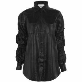 Push Button Leather Shirt