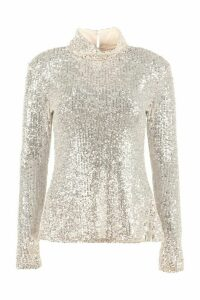 LAutre Chose Sequin Long Sleeve Top