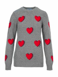 Prada Hearts Intarsia Sweater