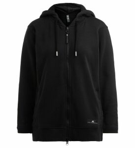 Adidas Sweatshirt By Stella Mccartney In Black Cotton With Hood