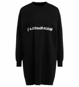 Maxi Sweater Mm6 Maison Margiela In Black Wool And Cotton