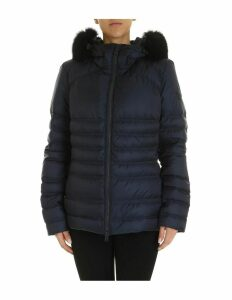Peuterey Jacket Bell Mq Fur In Quilted Fabric Color Blue