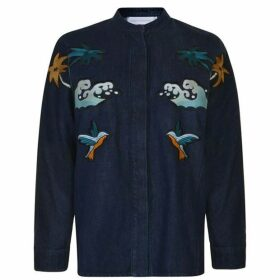 Victoria by Victoria Beckham Embroidered Denim Jacket