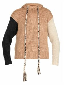 Alanui Oversized Cropped Hoodie Sweatshirt
