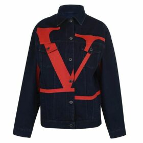 Valentino V Logo Denim Jacket