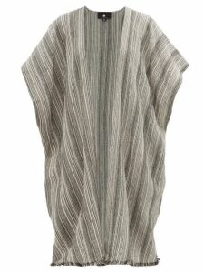 Su Paris - Kaja Striped Cotton Cover-up - Womens - Black Stripe