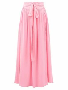 Melissa Odabash - Elsa Belted Poplin Maxi Skirt - Womens - Pink