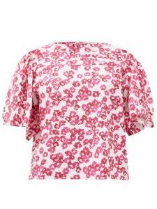 Merlette - Canova Floral-print Cotton Blouse - Womens - Pink Print