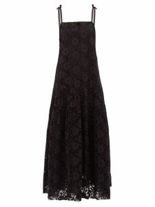 Merlette - Ordesa Broderie Anglaise Cotton Maxi Dress - Womens - Black