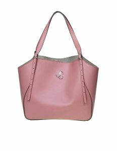 Jimmy Choo Shopping Varenne Tote In Pink Leather With Logo
