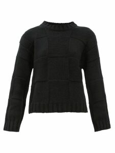 Johnston's Of Elgin - Maya Basket-weave Cashmere Sweater - Womens - Black