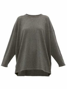 Eskandar - Boat-neck Cashmere Sweater - Womens - Dark Grey