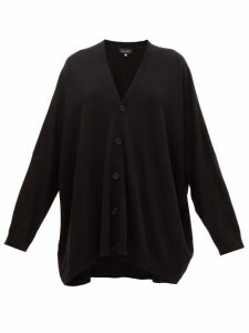 Eskandar - Wide V-neck Cashmere Cardigan - Womens - Black
