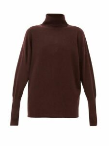 Johnston's Of Elgin - Batwing-sleeve Cashmere Roll-neck Sweater - Womens - Dark Brown