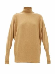Johnston's Of Elgin - Batwing-sleeve Cashmere Roll-neck Sweater - Womens - Camel