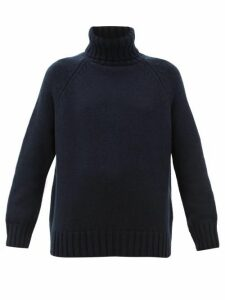 Johnston's Of Elgin - Sophie Roll-neck Cashmere Sweater - Womens - Navy