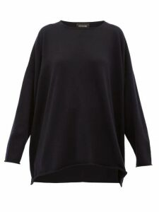 Eskandar - Boat-neck Cashmere Sweater - Womens - Navy