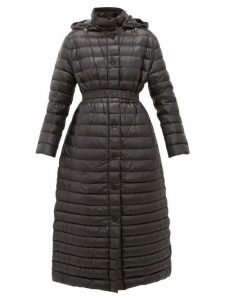 Moncler - Chocolat Quilted-down Coat - Womens - Black