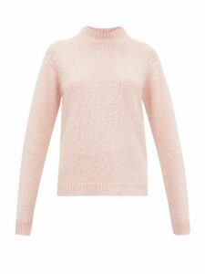 Tibi - Cozette Mock-neck Alpaca-blend Sweater - Womens - Light Pink