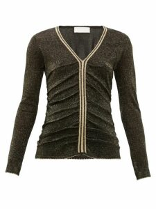 Peter Pilotto - Stripe-trim Metallic Sweater - Womens - Black
