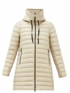Moncler - Rubis Longline Hooded Down-filled Coat - Womens - Beige