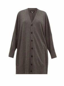 Eskandar - Longline Oversized Cashmere Cardigan - Womens - Grey