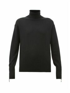 Burberry - Nabuna Logo-cuff Wool-blend Roll-neck Sweater - Womens - Black