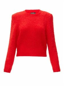 Isabel Marant - Idona Padded Shoulder Wool Sweater - Womens - Red