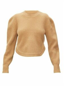 Isabel Marant - Julian Curved-hem Cashmere And Wool Sweater - Womens - Camel