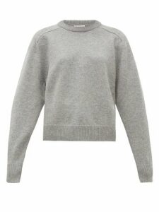 Chloé - Festive Monogram-embroidered Cashmere Sweater - Womens - Grey