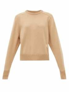 Chloé - Festive Monogram-embroidered Cashmere Sweater - Womens - Camel