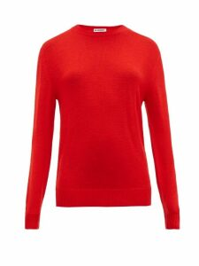 Jil Sander - Round Neck Wool Sweater - Womens - Red
