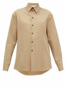 Jil Sander - Linen-twill Shirt - Womens - Camel