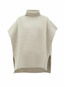 Joseph - Roll-neck Cashmere Poncho - Womens - Grey
