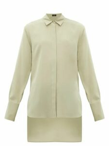 Joseph - Oldfield Silk Crepe De Chine Shirt - Womens - Light Green