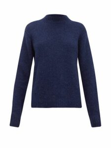 Tibi - Cozette Mock-neck Alpaca-blend Sweater - Womens - Navy