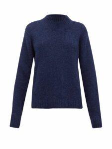 Tibi - Cozette Mock Neck Alpaca Blend Sweater - Womens - Navy